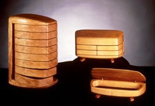 Image of Three Kellam Wood Jewelry Boxes